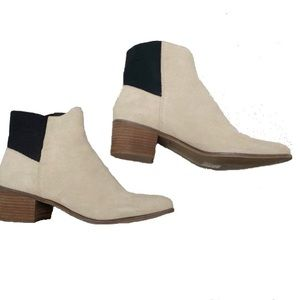 DOLCE VITA CYNDIE NEW WHITE SUEDE ANKLE BOOTS 🥾
